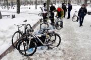 В Воронеже открыли велопарковку